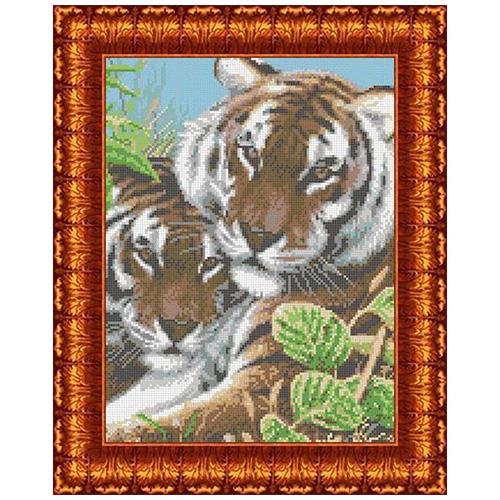 КК 001 Канва с рисунком Каролинка 'Тигры' 23*30 см