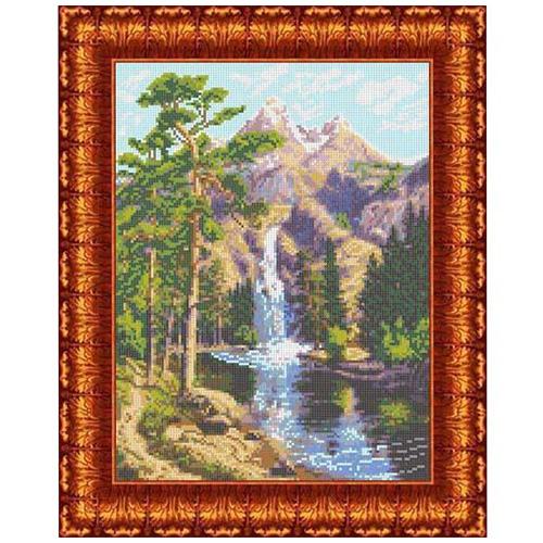 КК 006 Канва с рисунком Каролинка 'Горный водопад' 23*30 см