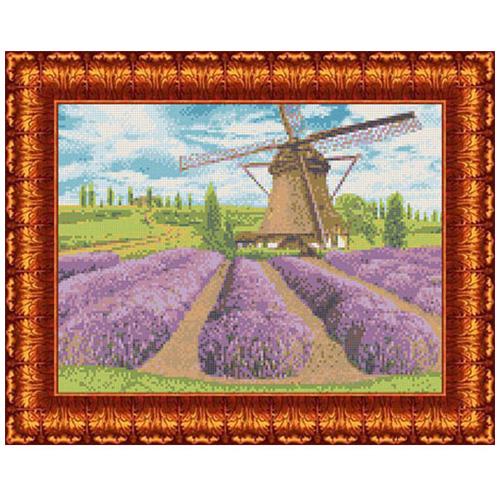 КК 012 Канва с рисунком Каролинка 'Цветущая лаванда' 23*30 см