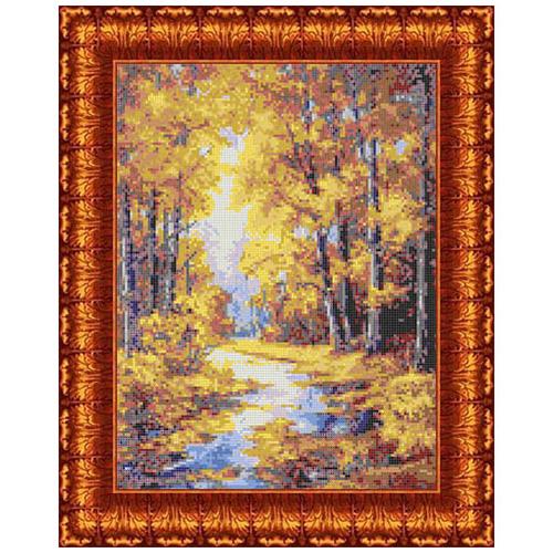 КК 023 Канва с рисунком Каролинка 'Осенние краски' 23*30 см