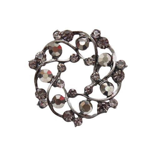 ГЖ96/2 Брошь 38мм (чёрный никель/серый металлик цв.960)