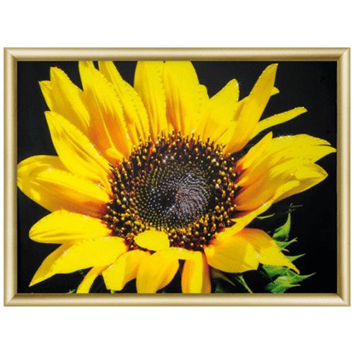 КС161 Набор для изготовления картины со стразами 'Солнечный цветок' 30,3*42 см