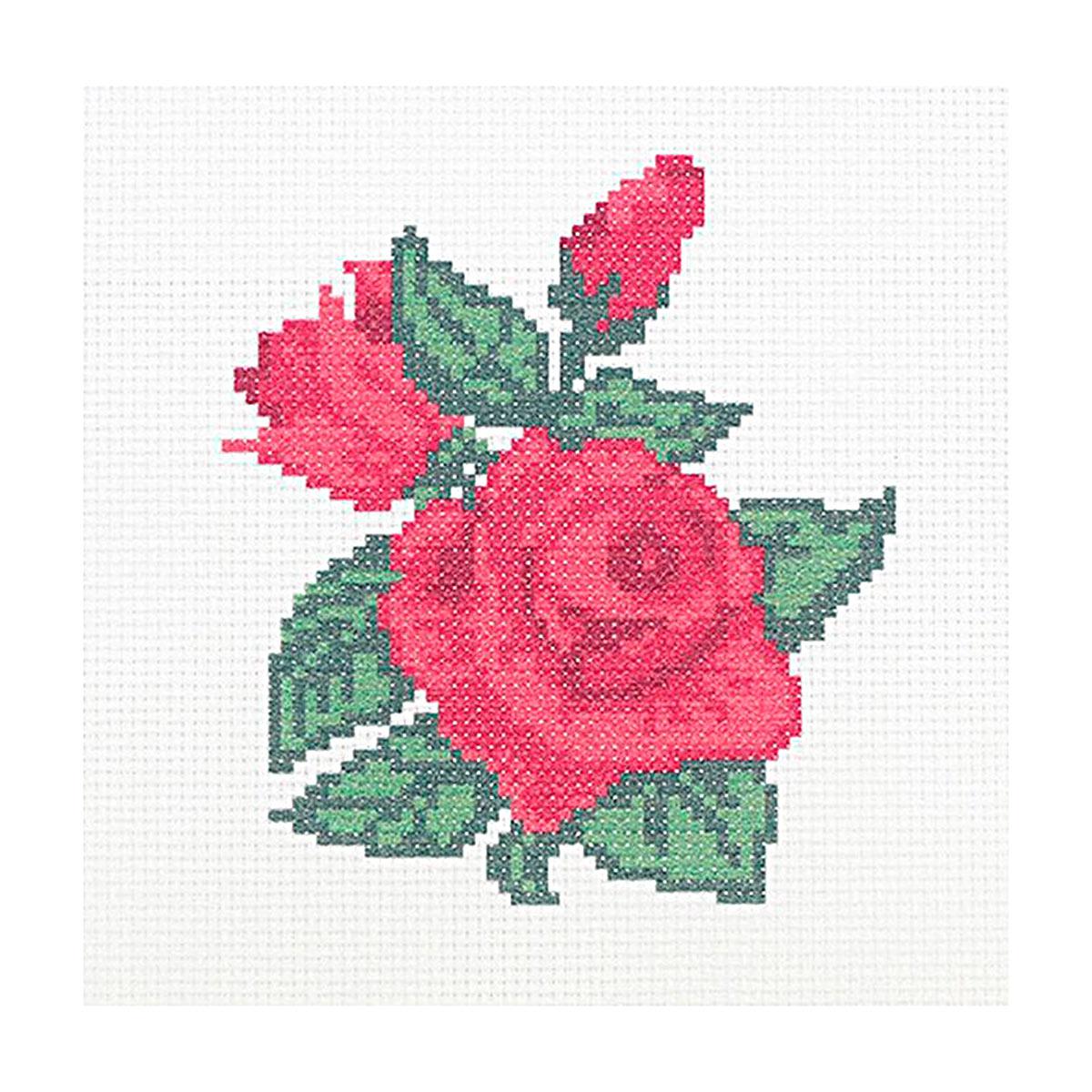"""Набор (рис/канв.мулине) """"Бархатные розы"""" 22*22см, ПК-173, Hobby&Pro"""