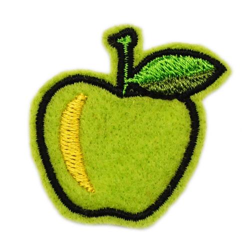 Термоаппликация 'Яблоко зелёное' 4,5*4,5см Созвездие