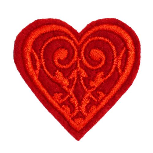 Термоаппликация 'Сердечко красное' 3,79*3,99см Созвездие