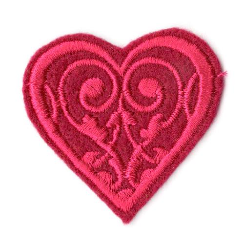 Термоаппликация 'Сердечко розовое' 3,79*3,99см Созвездие