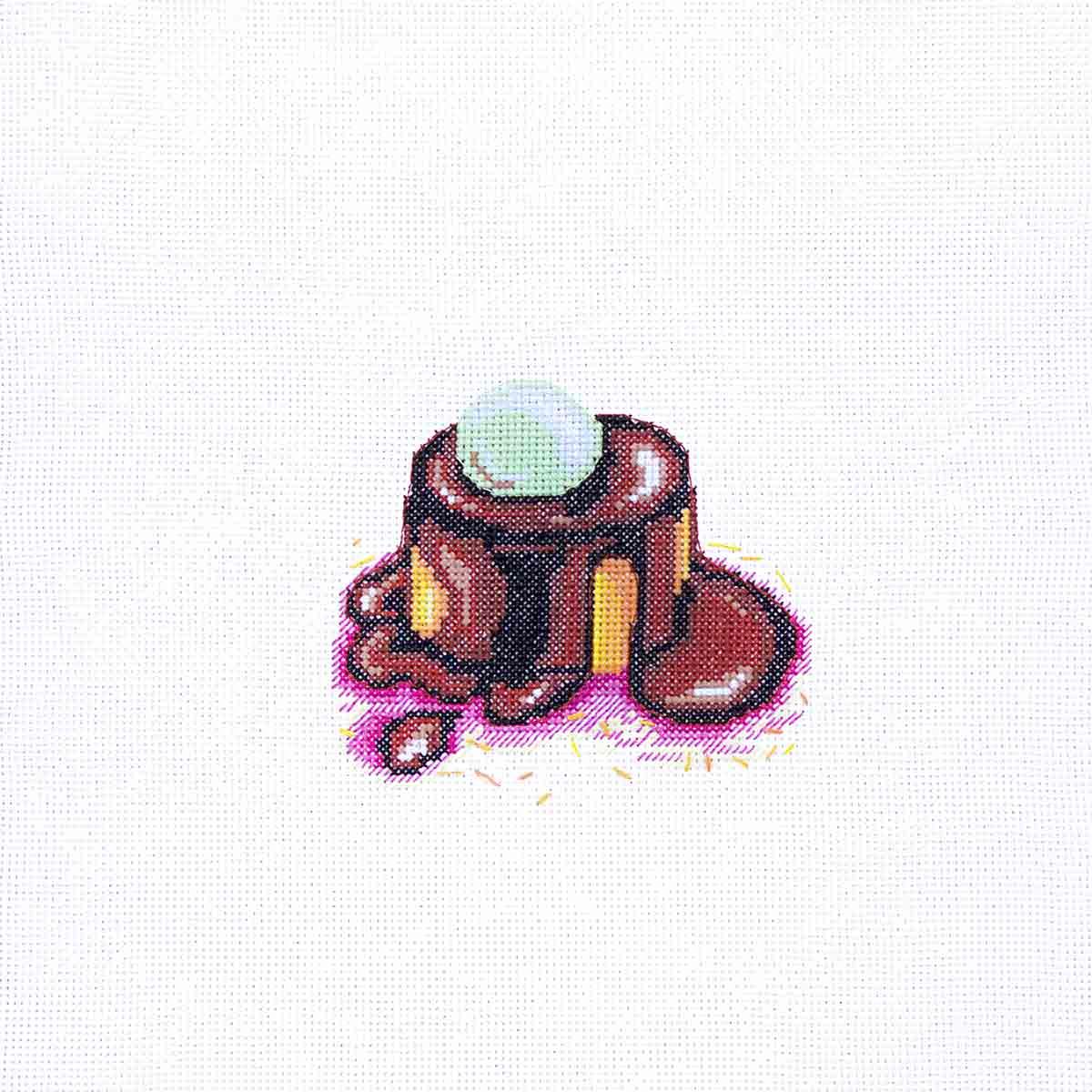 К-201 Набор для вышивания крестом Созвездие 'Брауни' 12*11см