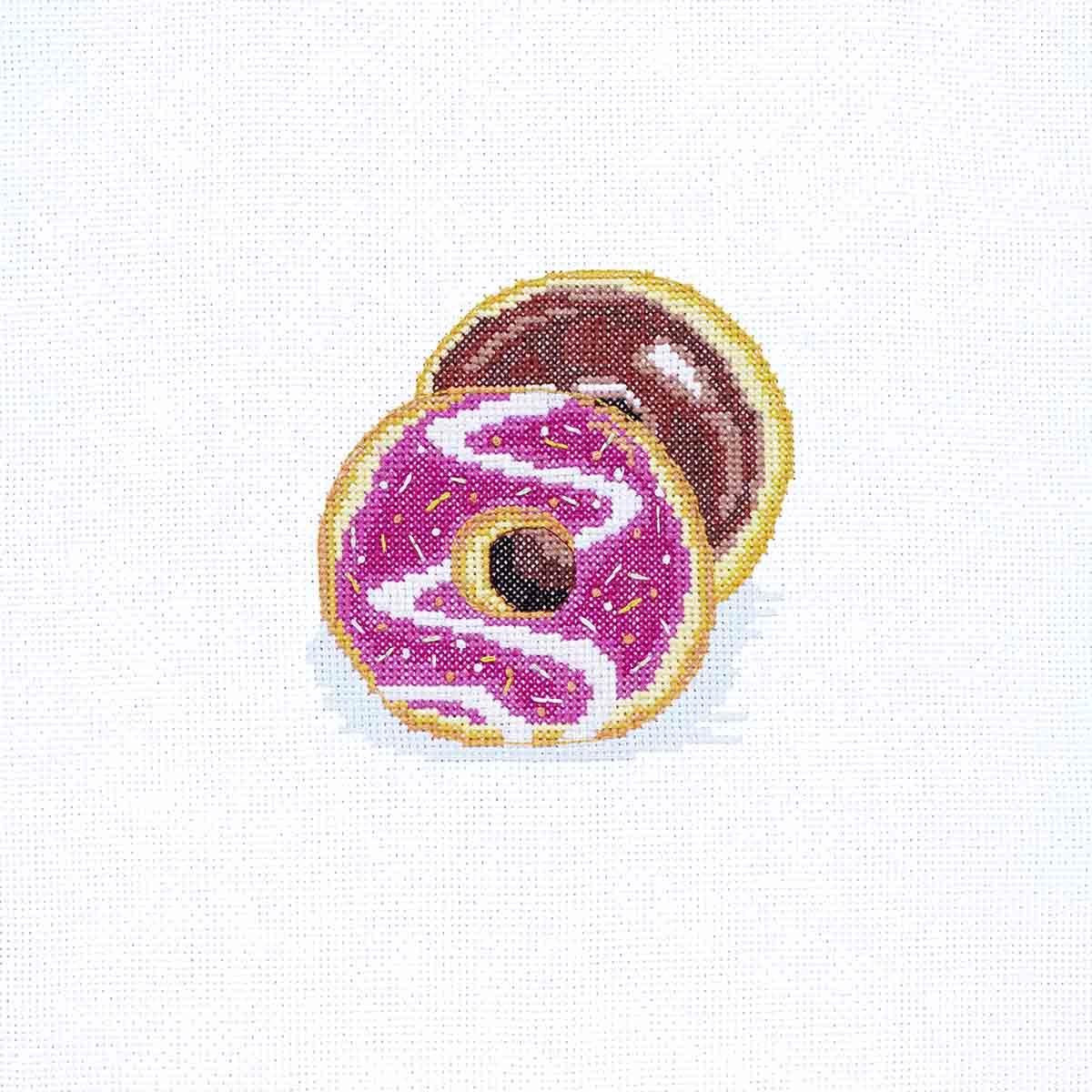 К-203 Набор для вышивания крестом Созвездие 'Пончики' 11*11см