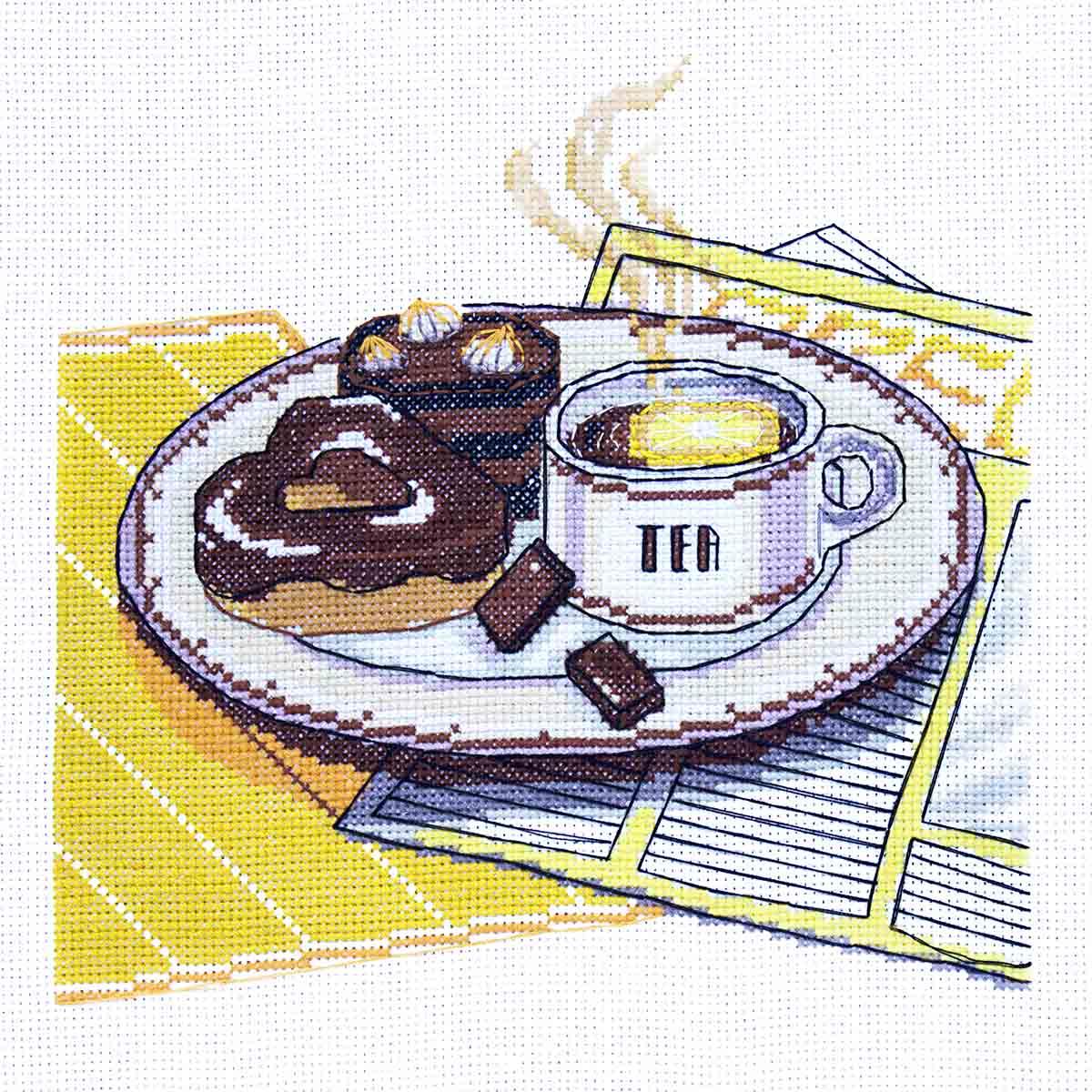 К-210 Набор для вышивания крестом Созвездие 'Чай' 20*19,5см