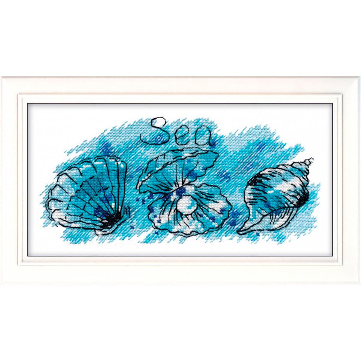 1070 Набор для вышивания ОВЕН 'Жемчужина моря' 17х8 см