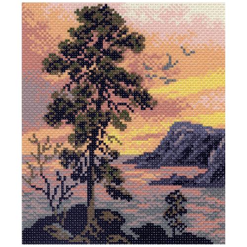 1015-1 Канва с рисунком Матренин посад 'Вечерний пейзаж' 24*35см (28*37см)