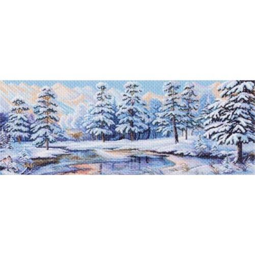 1360 Канва с рисунком Матренин посад 'Зимний лес' 40*90см