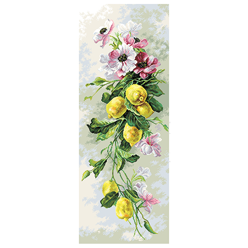 1819 Канва с рисунком Матренин посад 'Лимонный вальс' 40*90см