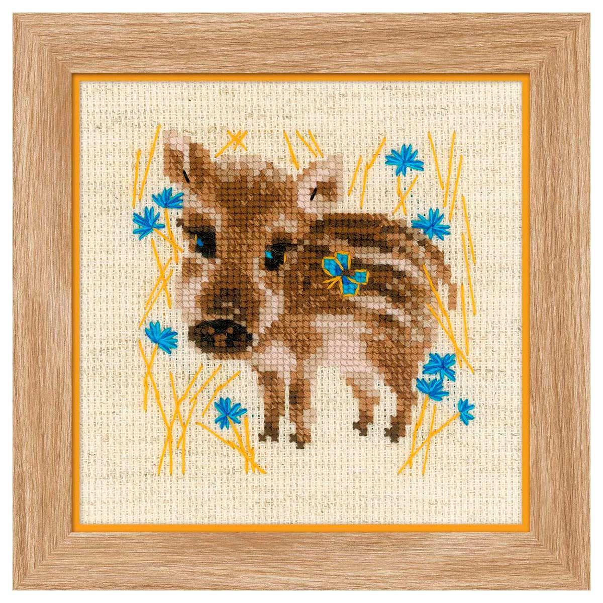 1756 Набор для вышивания Риолис 'Маленький кабанчик' 13*13см