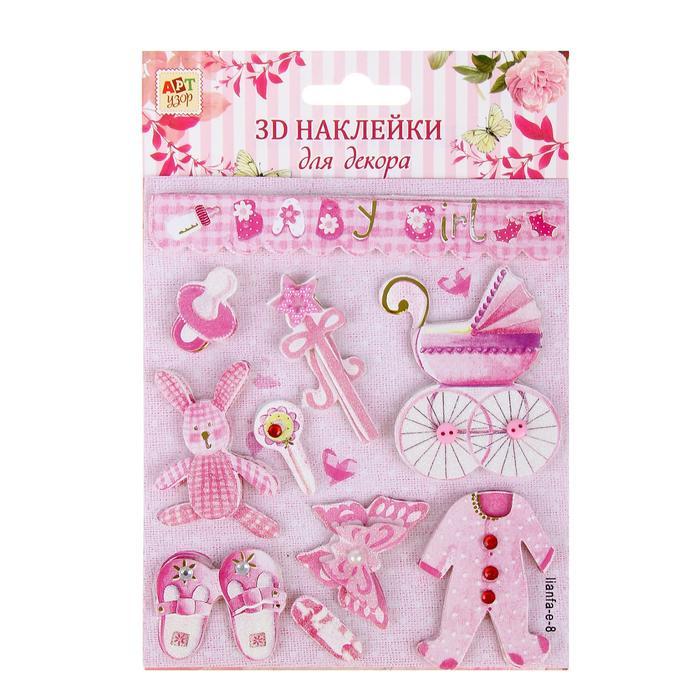 1048286 Наклейка для декора 3D 'Детская радость' с клейкой лентой