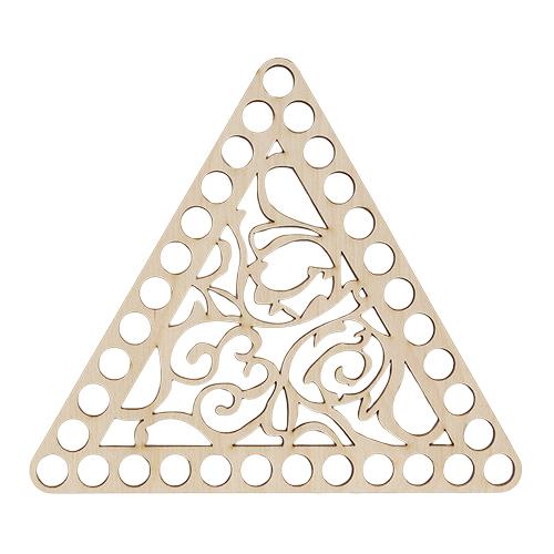 L-1016 Деревянная заготовка Крышка Треугольник 160*160*160*4мм