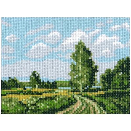 0285 Канва с рисунком Матренин посад 'Русское поле' 16*20 см (10*12 см)