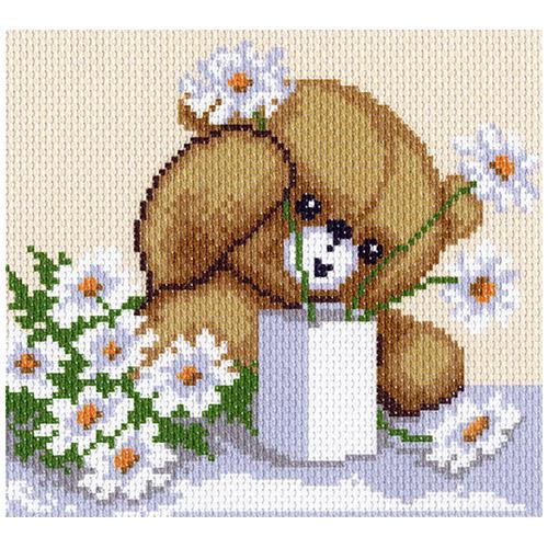 1167-1 Канва с рисунком Матренин посад 'Цветы для мамы' 21*29 см (28*37 см)