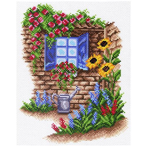 1481-1 Канва с рисунком Матренин посад 'Окно в сад' 21*29 см (28*37 см)