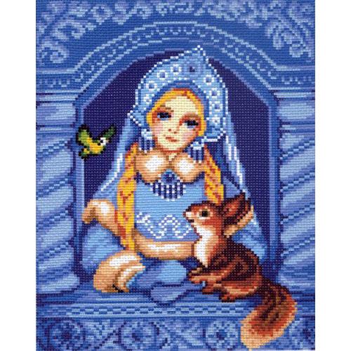 0116 Канва с рисунком Матренин посад 'Снегурочка' 24*30см