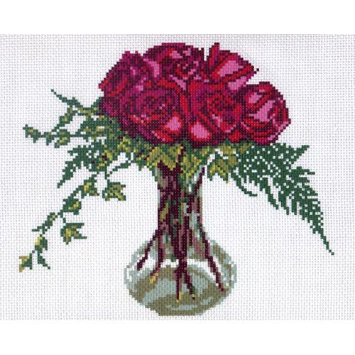0256 Канва с рисунком Матренин посад 'Роза' 24*30см