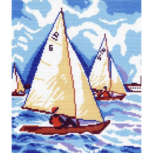 0280 Канва с рисунком Матренин посад 'Парусники' 24*30см