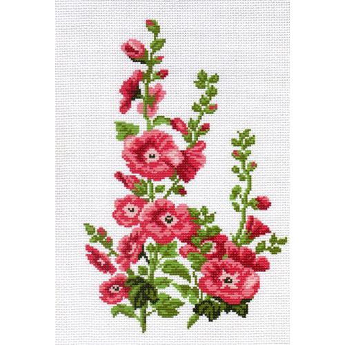 0478 Канва с рисунком Матренин посад 'Цветы' 24*35см