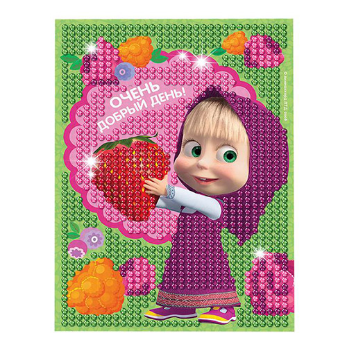 3045434 Алмазная мозаика для детей 'Добрый день' Маша и Медведь