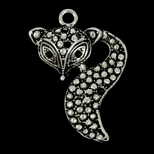 1902204 Декоративный метал. элемент 'Лисичка' 2*3см
