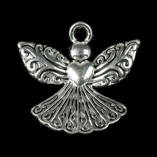 2268840 Декоративный метал. элемент для творчества 'Ангел с сердцем' (А17444) 2,1*2,2см