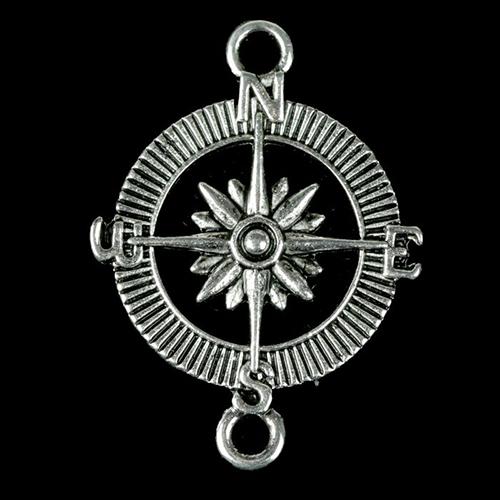 2268846 Декоративный метал. элемент для творчества 'Компас' (В71218) 3,2*2,4см