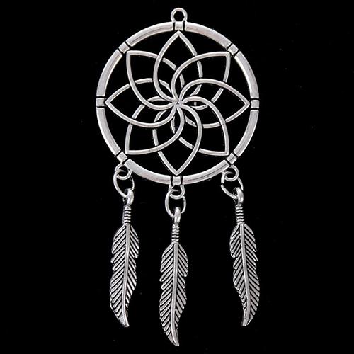 2505011 Декоративный метал. элемент для творчества 'Ловец снов' (А41152) 7*3,5см