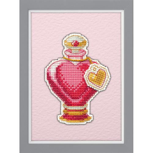 1106 Магнит на пластиковой канве ОВЕН 'Любовное зелье' 6,2х9,3см