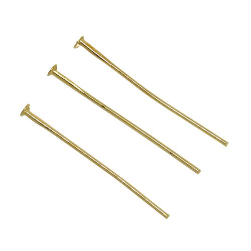 TBY.PIN2.05 Пины с шляпкой 30 мм цв.золото уп.100шт