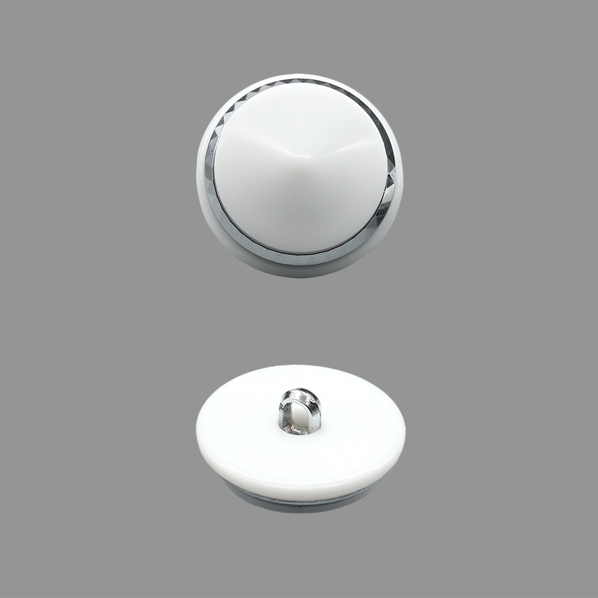 К1617 Пуговица 28мм (белый/никель)