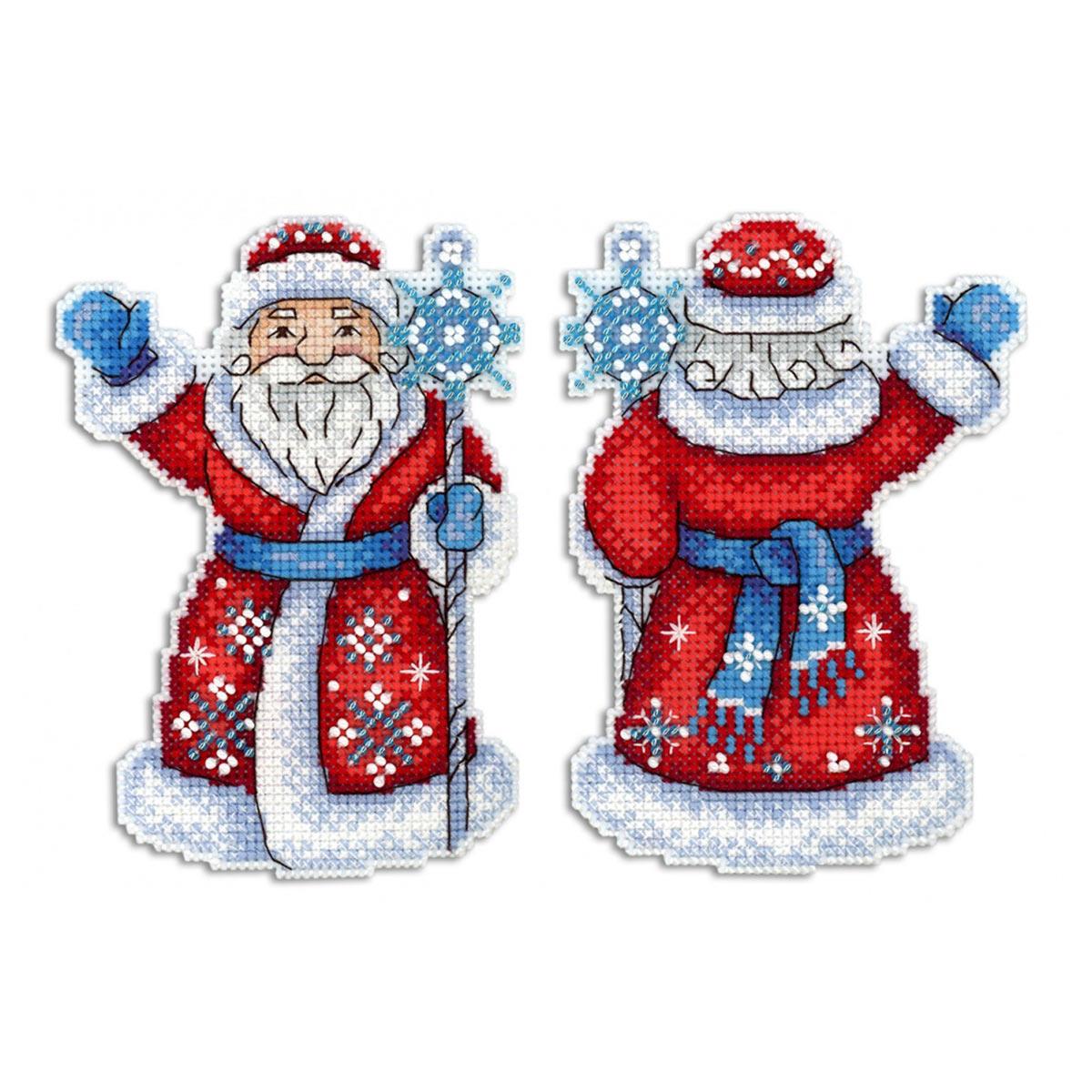 Р-312 Набор для вышивания на пластиковой канве МП Студия 'Дедушка Мороз' 13*10см