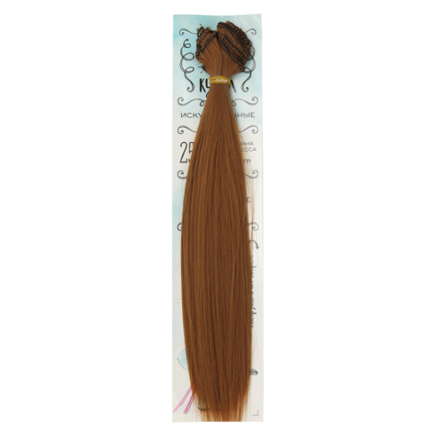 2294902 Волосы - тресс для кукол 'Прямые' длина волос 25 см, ширина 100 см, цвет № 30А