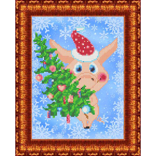 КБЖ-4034 Канва с рисунком для бисера 'Желаем счастья!' А4