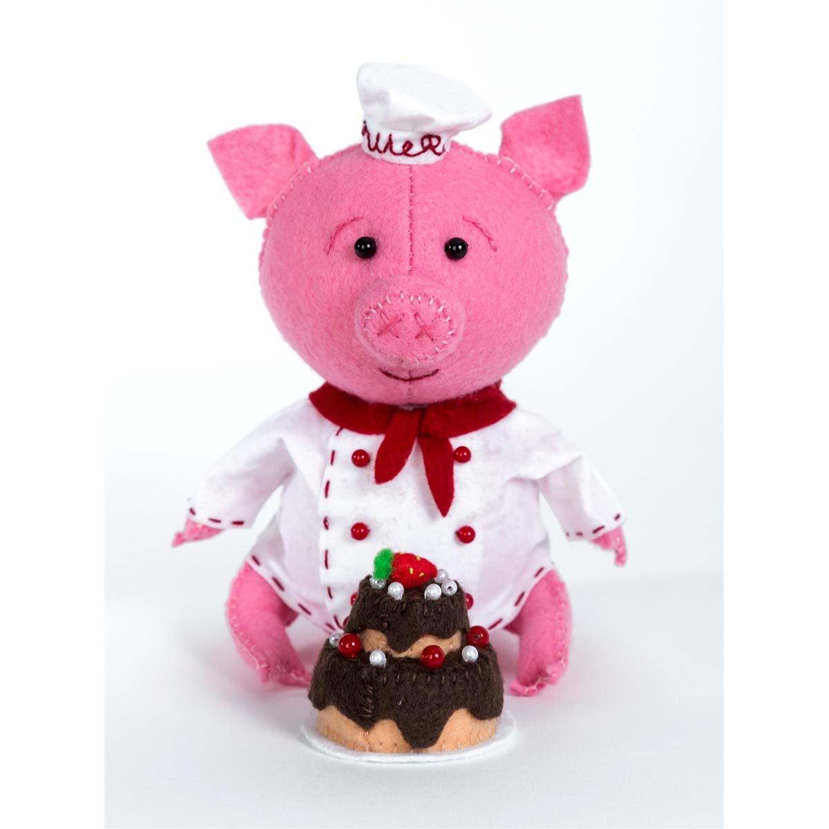 ПФЗД-1011 Набор для создания игрушки из фетра серия Забавные друзья 'Поросёнок Пекарь'