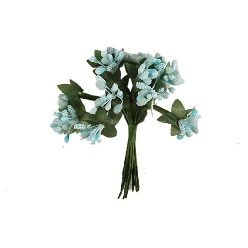67453 Тычинки для искуственных цветов 12шт. голубые