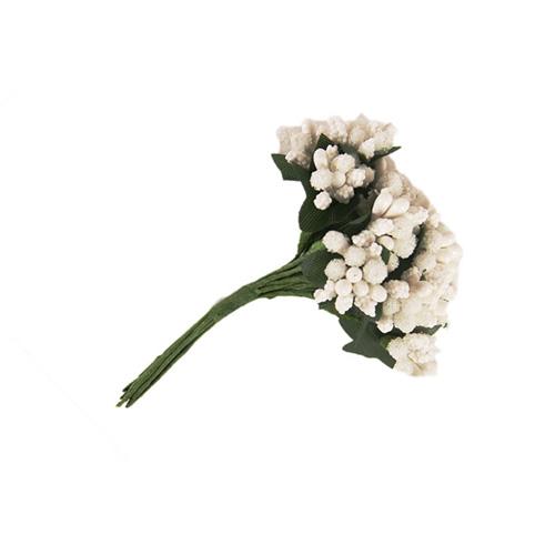 67456 Тычинки для искуственных цветов 12шт. белые