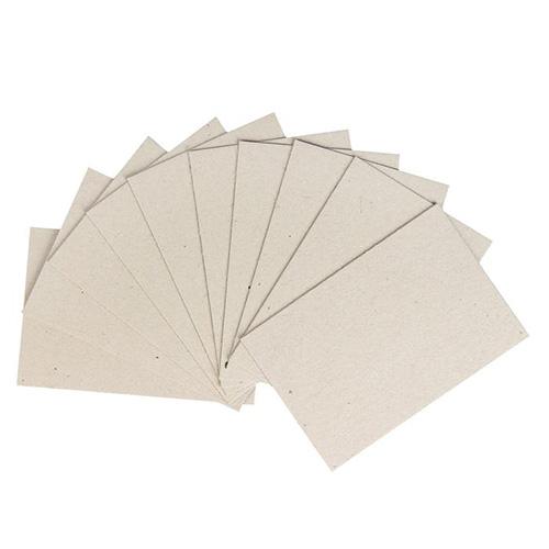 3507692 Набор переплетного картона для творчества (10 листов) 10 х15 см, толщина 1 мм (серый)
