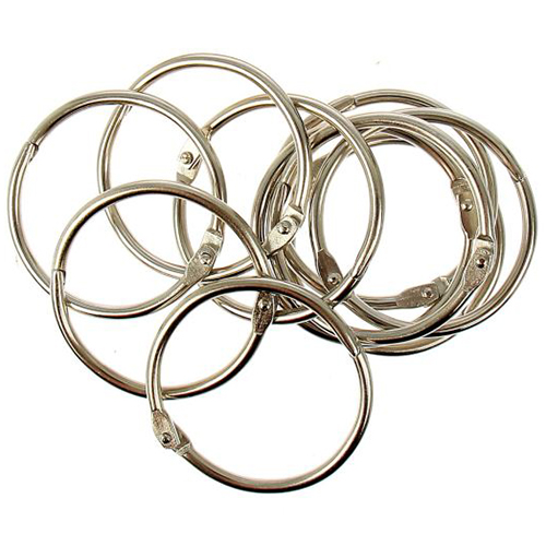 1226219 Кольца для творчества 'Серебро' набор 10 шт, d=4 см
