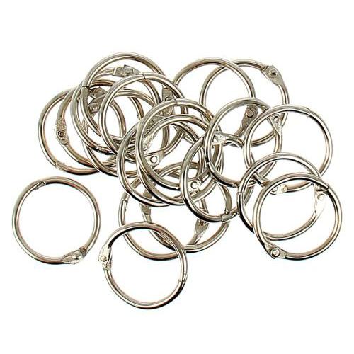1226217 Кольца для творчества 'Серебро', набор 20 шт, d=2 см