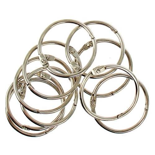 1226218 Кольца для творчества 'Серебро' набор 10 шт, d=3,5 см