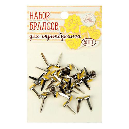 1273616 Набор брадсов для творчества 'Жёлто-оранжевые', 30 шт