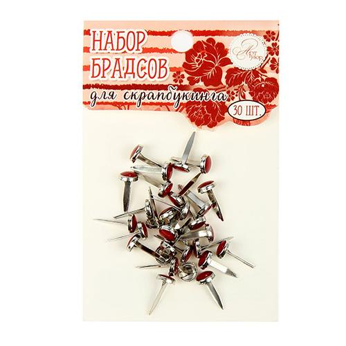 1273623 Набор брадсов для творчества 'Красно-бордовые', 30 шт