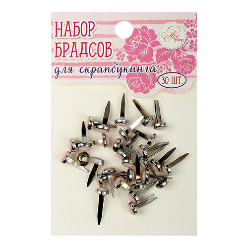 1273627 Набор брадсов для творчества 'Нежно-розовые', 30 шт