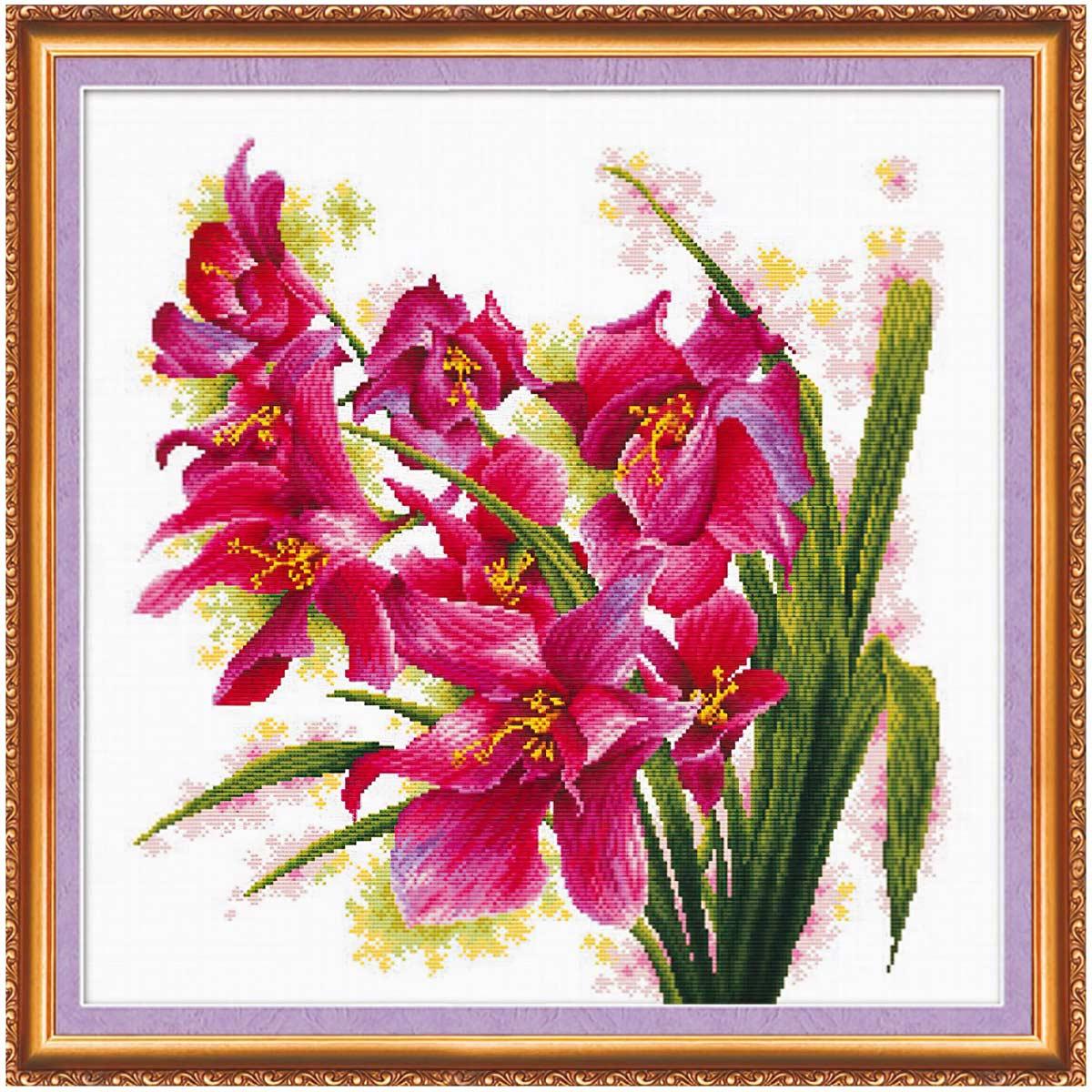 АН-003 Набор для вышивания крестом 'Лиловые орхидеи' 40*40см