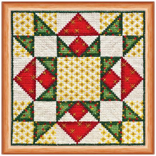 АН-017 Набор для вышивания крестом 'Квилт. Рождество' 14*14см